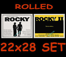 ORIGINAL ROCKY Pre-OSCAR 22x28 & ORIGINAL ROCKY II 22x28 MOVIE POSTER SET! SEE!!