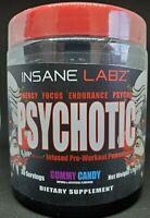 INSANE LABZ PSYCHOTIC PRE WORKOUT 35 SRVS - FREE SHAKER CUP w/ EACH BOTTLE !!!