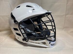 Cascade CS White Lacrosse Helmet Size Youth Junior Adjustable S/M