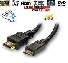 1.4v Top Quality MINI C HDMI PLUG TO STANDARD HDMI MALE Gold 3D HDTV DIGITAL