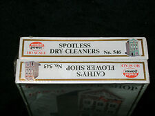 CATHY'S FLOWER SHOP * SPOTLESS DRY CLEANERS SEALED * 2 * KITS HO Scale Train*NEW