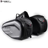 58L Motorcycle Saddle Bag Waterproof Riding Helmet Bag Motor Tail Luggage Black