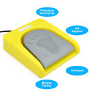 USB Foot Pedal Single Switch Game Control One Key Customized PC Keyboard Yellow