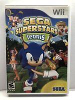 Sega Superstars Tennis (Nintendo Wii Kids Game) Complete w/ Manual - Free Ship