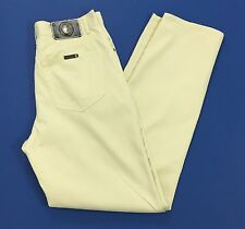 Trussardi jeans w33 47 pantalone crema estivi leggeri usato boyfriend uomo T1527