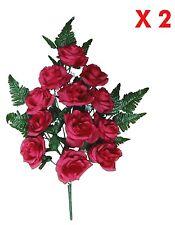 Beauty Rose Memorial Flower (Pack 2 Sprays) Indoor Outdoor Cemetery Grave