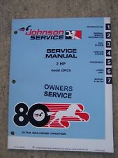 1980 Johnson 2 HP J2RCS Outboard Owner Service Manual MORE IN OUR STORE   RR