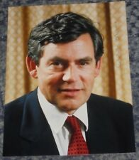 GORDON BROWN -   PRIME MINISTER    - 8x6   PHOTO  SIGNED.