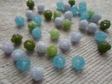 Czech Glass Beads ~ 50 x Fancy Bicone beads in an Assortment of 4 colours