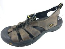 fa9e94019534 SH12 Keen Men US 14 Newport H2 Brown Leather Waterproof Hiking Water Sandal