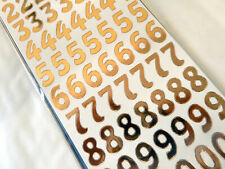 Rose Gold Sticky Adhesive Numbers 0-9, Labels Stickers for Craft WD-51
