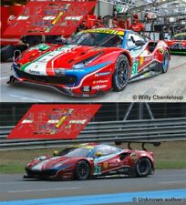 Decals Ferrari 488 GTE Le Mans 2020 51 71 1:32 1:43 1:24 1:18 calcas