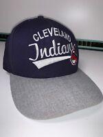 Cleveland Indians New Era - RARE Blue/Grey Baseball Cap Hat Snap Back 9Fifty S-M
