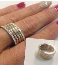 Anello  acciaio 5 veretta 5 in 1 in 3 colori oro rame argento 18 mm Idea regalo