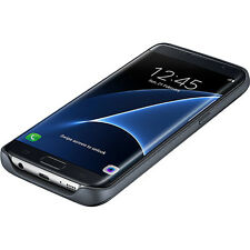 Samsung OEM Wireless Charging Battery Snap-on Case 3100mAh Galaxy S7 Edge Black