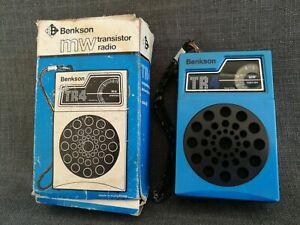 Vintage Benkson TR14 MW Shirt Pocket Transistor Radio Original Box and Working