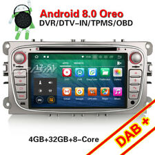 Android 8.0 Car DVD Player Sat Nav GPS DAB+BT Ford Focus Mondeo S/C-Max Galaxy