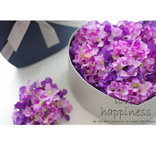 20x Artificial Purple Hydrangea Flowers Home Wedding Silk Flower Head Decor