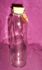 "8"" Tall Clear Glass Bottle w/Cork-7.25"" in Circumference - Food Safe"