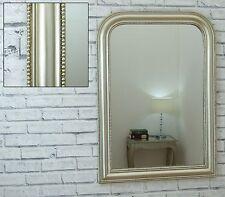 Hampton Louis Philippe Style Champagne Beaded Frame Wall Mirror 90cm x 64cm