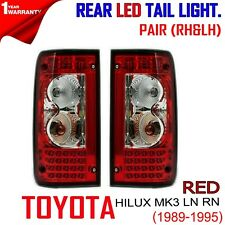 TOYOTA HILUX MK3 LN RN SR5 DLX 89-90 97 PAIR RED LENS LED TAIL LAMP BULB SOCKET