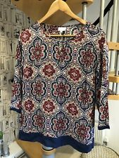 East patterned top size 16