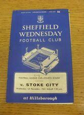 01/11/1967 Sheffield Wednesday v Stoke City [Football League Cup] (Creased, Scor