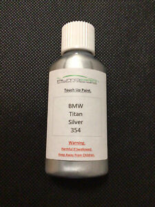 BMW Titan Silver 354 30mls Touch Up Paint With Internal Brush Top Quality Paint