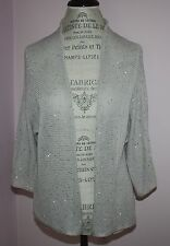 NWT Womens $398 Eileen Fisher Mini-Sequined Chain Mail Jersey Cardigan Size M