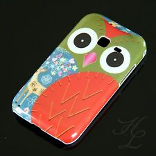 Samsung Galaxy Ace Duos S6802 Hard Case Handy Hülle Cover Etui Rot Schale Owl