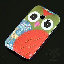 Samsung Galaxy Ace Duos S6802 Hard Case Handy Hülle Cover Etui Rot Schale Owl