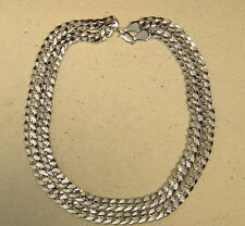 Men's Large Rhodium Plated Cuban Curb Link Chain Necklace 36in inch Long 10mm