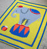 Crochet Patterns - CIRCUS ELEPHANT Afghan Pattern *EASY