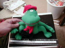 Stuffed Xmas Frog with hat and scarf, by Toy n' Toys