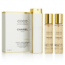 Coco Mademoiselle By Chanel-Twist&Spray-Eau de Parfum-3x0.7oz/3x20ml-New In Box