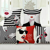 "18"" Belle Cushion Cover Creative Sofa Bed Car Home Decor Couch Pillow Case"