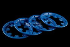 Mad Max Strong Nylon Outer Beadlocks Blue For KM & HPI Baja 1/5th RC