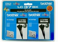 Genuine Brother Ink Cartridge LC-37 Black ink (Twin Pack)