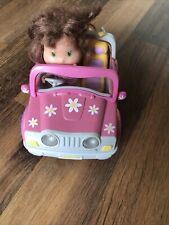 ELC PINK DAISY CONVERTIBLE CAR THAT LIGHTS AND SOUNDS & DOLL❤️🌈