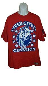 WWE John Cena  Cenation U Can't C Me Never Give Up T-Shirt Size XL euc