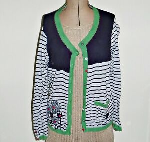 *COOL PER UNA 16 8 BUTTON CARDIGAN + 3 ON LONG SLEEVE HIP LENGTH MULTI COLOURS