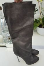 Womens Casadei Authentic Blade Designer Vero Cuoio Real Leather Boots 4.5 37.5