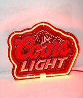 Best Designed Coors Light Beer Bar 3D Carved Neon Sign Light [FAST SHIPPING]