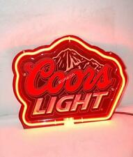 Best Designed Coors Light Beer Bar 3D Carved Neon Sign Light [FAST SHIPPING]