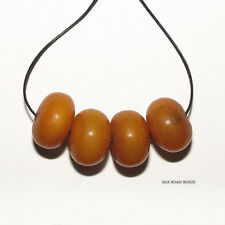"""4  """"african amber"""" simulated amber beads germany african trade #119a"""