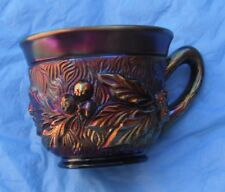 Accorn  Burrs...Punch Cup--purple-scarce--RE....vintage Northwood carnival glass