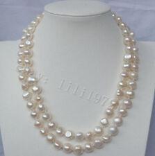 12-13mm weißen Barock Süßwasser Perlenkette 86cm
