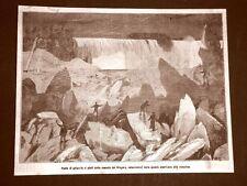 Ponte di ghiaccio ai piedi delle Cascate del Niagara nel 1879 Canada