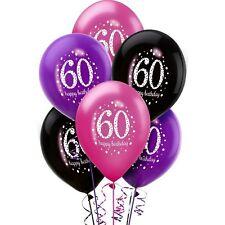 Amscan 9900879 11-inch Celebration 60th Happy Birthday Latex Balloons