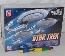 STAR TREK Set 3 Modellini KIT Scala 1/2500 Navi ENTERPRISE NCC-1701 REFIT Model